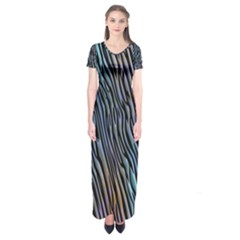 Abstract Background Wallpaper Short Sleeve Maxi Dress