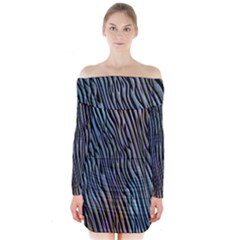 Abstract Background Wallpaper Long Sleeve Off Shoulder Dress