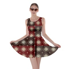 Decorative Pattern With Flowers Digital Computer Graphic Skater Dress