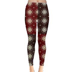 Decorative Pattern With Flowers Digital Computer Graphic Leggings