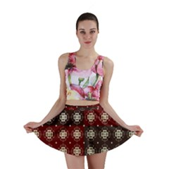 Decorative Pattern With Flowers Digital Computer Graphic Mini Skirt