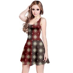 Decorative Pattern With Flowers Digital Computer Graphic Reversible Sleeveless Dress