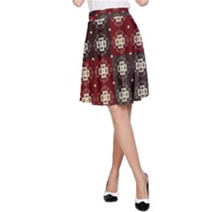 Decorative Pattern With Flowers Digital Computer Graphic A-Line Skirt