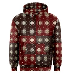 Decorative Pattern With Flowers Digital Computer Graphic Men s Pullover Hoodie