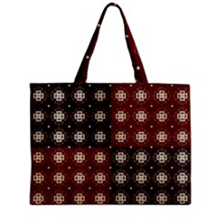 Decorative Pattern With Flowers Digital Computer Graphic Zipper Mini Tote Bag