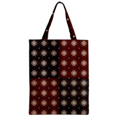 Decorative Pattern With Flowers Digital Computer Graphic Zipper Classic Tote Bag