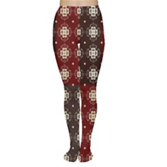 Decorative Pattern With Flowers Digital Computer Graphic Women s Tights