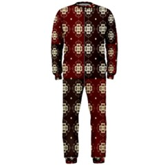 Decorative Pattern With Flowers Digital Computer Graphic OnePiece Jumpsuit (Men)
