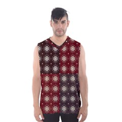 Decorative Pattern With Flowers Digital Computer Graphic Men s Basketball Tank Top