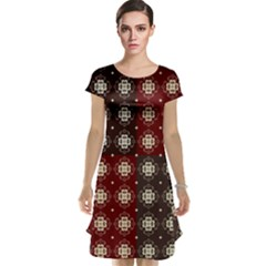 Decorative Pattern With Flowers Digital Computer Graphic Cap Sleeve Nightdress