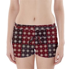 Decorative Pattern With Flowers Digital Computer Graphic Boyleg Bikini Wrap Bottoms