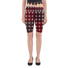 Decorative Pattern With Flowers Digital Computer Graphic Yoga Cropped Leggings