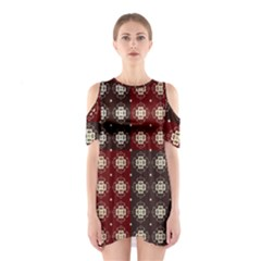 Decorative Pattern With Flowers Digital Computer Graphic Shoulder Cutout One Piece