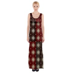 Decorative Pattern With Flowers Digital Computer Graphic Maxi Thigh Split Dress