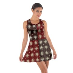 Decorative Pattern With Flowers Digital Computer Graphic Cotton Racerback Dress