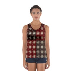 Decorative Pattern With Flowers Digital Computer Graphic Women s Sport Tank Top