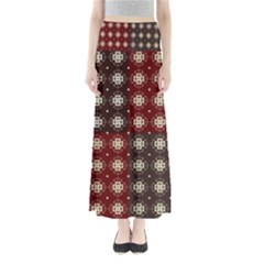 Decorative Pattern With Flowers Digital Computer Graphic Maxi Skirts
