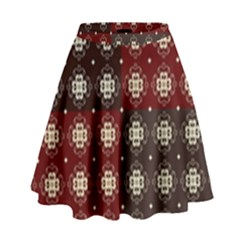 Decorative Pattern With Flowers Digital Computer Graphic High Waist Skirt