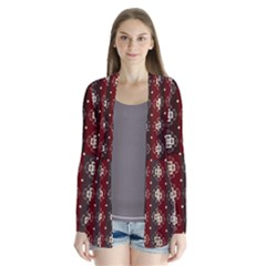 Decorative Pattern With Flowers Digital Computer Graphic Cardigans