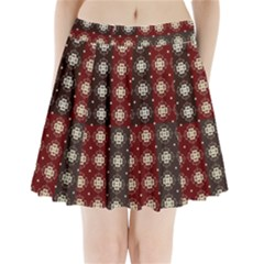 Decorative Pattern With Flowers Digital Computer Graphic Pleated Mini Skirt