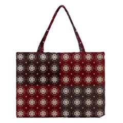 Decorative Pattern With Flowers Digital Computer Graphic Medium Tote Bag