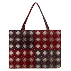 Decorative Pattern With Flowers Digital Computer Graphic Medium Zipper Tote Bag