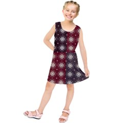 Decorative Pattern With Flowers Digital Computer Graphic Kids  Tunic Dress