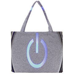 Close Up Of A Power Button Mini Tote Bag