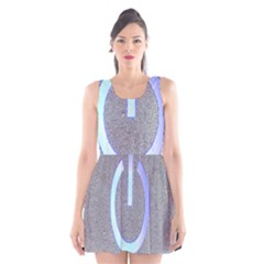 Close Up Of A Power Button Scoop Neck Skater Dress