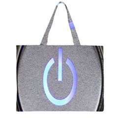 Close Up Of A Power Button Large Tote Bag