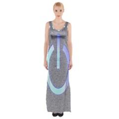 Close Up Of A Power Button Maxi Thigh Split Dress