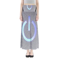 Close Up Of A Power Button Maxi Skirts