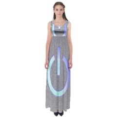 Close Up Of A Power Button Empire Waist Maxi Dress