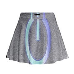 Close Up Of A Power Button Mini Flare Skirt