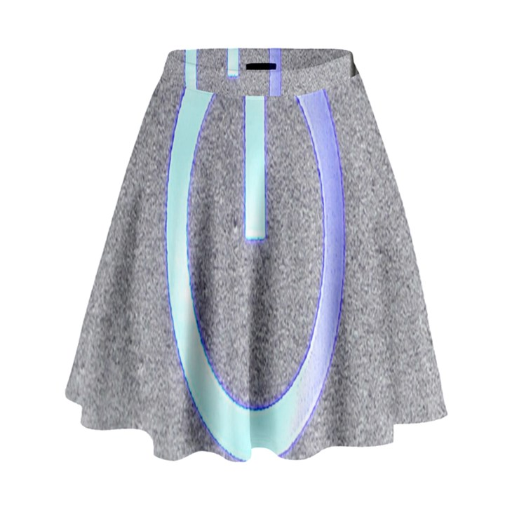 Close Up Of A Power Button High Waist Skirt
