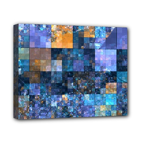 Blue Squares Abstract Background Of Blue And Purple Squares Canvas 10  x 8