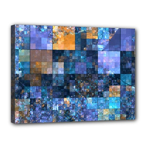 Blue Squares Abstract Background Of Blue And Purple Squares Canvas 16  x 12