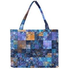 Blue Squares Abstract Background Of Blue And Purple Squares Mini Tote Bag