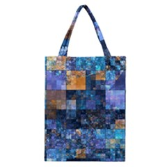 Blue Squares Abstract Background Of Blue And Purple Squares Classic Tote Bag