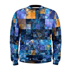 Blue Squares Abstract Background Of Blue And Purple Squares Men s Sweatshirt