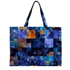 Blue Squares Abstract Background Of Blue And Purple Squares Zipper Mini Tote Bag