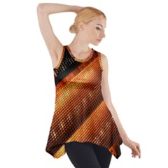 Magic Steps Stair With Light In The Dark Side Drop Tank Tunic
