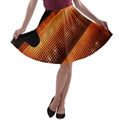 Magic Steps Stair With Light In The Dark A-line Skater Skirt