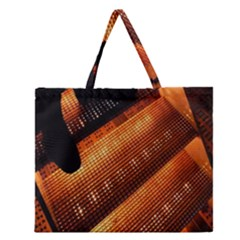 Magic Steps Stair With Light In The Dark Zipper Large Tote Bag