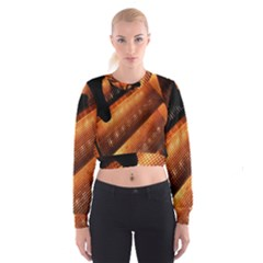 Magic Steps Stair With Light In The Dark Cropped Sweatshirt