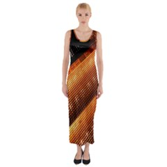 Magic Steps Stair With Light In The Dark Fitted Maxi Dress