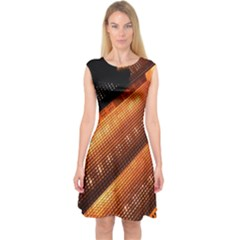 Magic Steps Stair With Light In The Dark Capsleeve Midi Dress