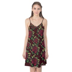 A Red Rose Tiling Pattern Camis Nightgown