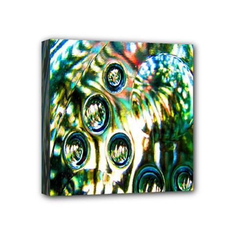 Dark Abstract Bubbles Mini Canvas 4  x 4