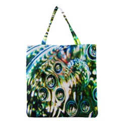 Dark Abstract Bubbles Grocery Tote Bag